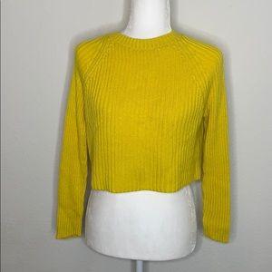 Garage Crop Ribbed Sweater